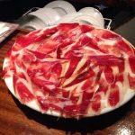 foto de plato de jamón ibérico en castellana 113