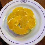 Magnifica presentación de corte de naranja en castellana 113 Lounge & Bar